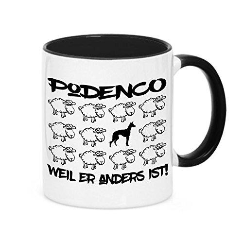 Siviwonder Tasse Black Sheep - Podenco - Hunde Fun Schaf Kaffeebecher