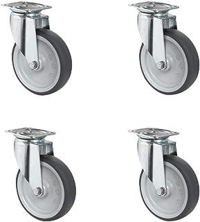 CASCOO SETSASA125P2T2P0N wielenset 4 zwenkwielen, polypropyleen, thermoplastisch elastomeer, diameter 125 mm, apparaatwiel...