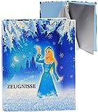 alles-meine.de GmbH A4 - Ringbuch / Zeugnisringbuch -  Zeugnisse  _  Prinzessin - Eisprinzessin  - incl. Einsteckseiten - ERWEITERBAR - für Dokumente / Zeugnis / Zeugnisheft ..