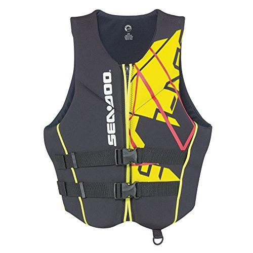 Sea-Doo New Freedom PFD Men's Size 3XL Life Vest 2858641610 Black/Yellow
