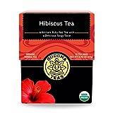 Buddha Teas Organic Hibiscus Flower Tea | 18 Bleach-Free Tea Bags | Supports Circulatory System | Calms Nervous System | Antioxidants | Great Source of Vitamin C | Caffeine Free | No GMOs