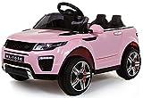 Rover Evoque Style 4 x 4 eléctrico / batería para coche 12 V con puertas de apertura, color rosa (Producto con enchufe de UK)