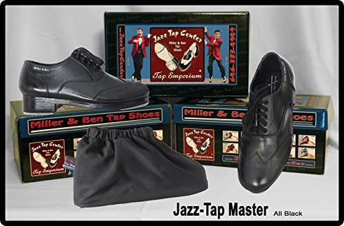 Miller & Ben Tap Shoes; Jazz-Tap Master; All Black Professional Tap Shoes (38 EU)