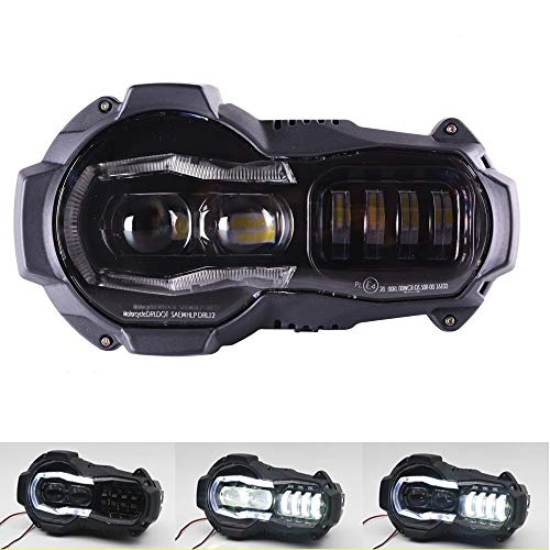 HEADLIGHT FARO SOSTITUTIVO LED GS 1200 LC & ADV 2004-2013 PLUG&PLAY CANBUS smartbomb