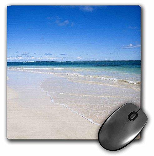 3drose LLC 20,3x 20,3x 0,6cm Maus Pad, vieques, weiß S und S von einer tropischen beach-ca27ist0052–Inti St. Clair (MP 70143Design 1)