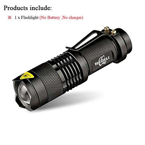 Ensemble A, CREE XML T6 3000 lm : Mini Zoom Lampe de poche à LED CREE XML T6 XM-L2 Lanterna lampe torche LED puissante batterie Flashlights 3800 lumens Utilisation 18650 Batterie