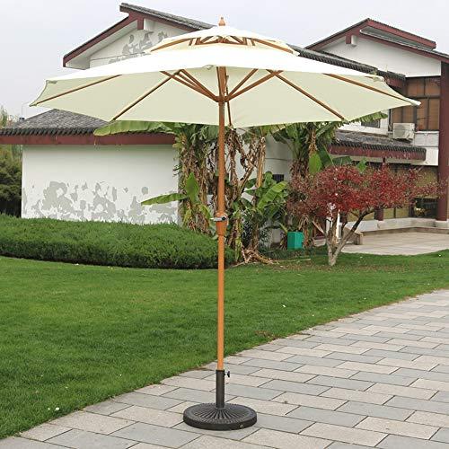 YRRA Sonnenschirm,Doppelsonnenschirm,Marktschirm, UV-Schutz, Gartenschirm, Terrassenschirm, Sonnenschutz,für Garten, Balkon und Terrasse,Beige