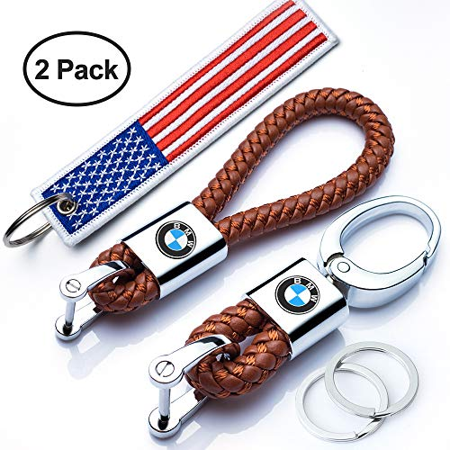 M Key Chain Keyring Family Present for Man and Woman N//O Genuine Leather Car Logo Keychain Suit for BMW 1 3 5 6 Series X5 X6 Z4 X1 X3 X7 7 Series