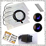 WATERCARBON Universal LED1 Side 3 Point Circular 3 Gear Switch Car Heating Pad