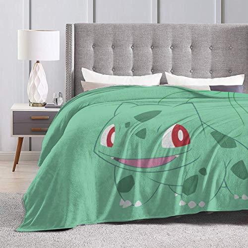 Heavenly Battle Bulbasaur - Manta de cama de microflano supernatural para invierno, lujosa, acogedora y esponjosa, para sofá, silla, sala de estar, 50 x 40 pulgadas