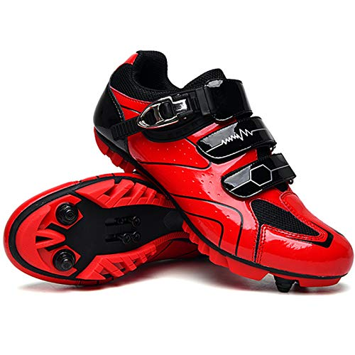 YQSHOES Zapatillas Ciclismo Montaña Hombre Calzado Ejercicio Ciclismo Interiores Compatible Tacos SPD Calzado Bicicleta Carretera Mujer,D,40EU/7.5UK/8US