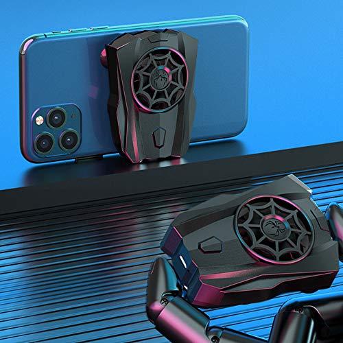 WBTY Radiador portátil para juegos de teléfono móvil, ventilador de refrigeración para teléfono móvil, mini ventiladores de refrigeración para jugar a juegos y teléfono móvil