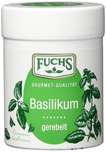 FUCHS Basilikum gerebelt, Gewürz mit pfeffrig-kühler leichten Schärfe (aromatische Kräuter in Dose), 3er Pack (3 x 20 g)
