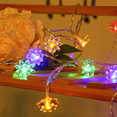 Uonlytech Lámpara de Flores LED Cadena de Luces de Flores de Cerezo Luz Romántica Decorativa Solar para Navidad Fiesta Decoración de Jardín de Boda 1 Juego