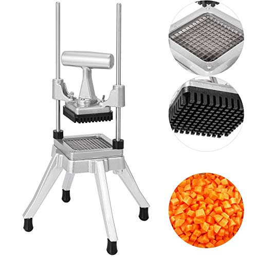 Happybuy Commercial Vegetable Fruit Chopper 1/4″ Blade Heavy Duty Professional Food Dicer Kattex...