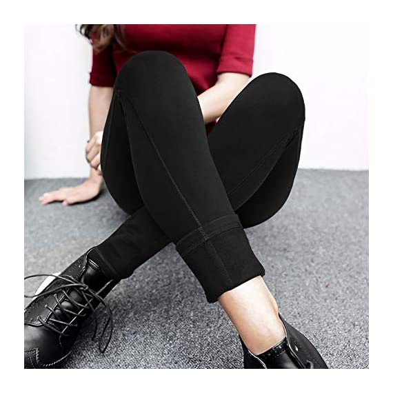 Ewedoos Fleece Lined Leggings with Pockets for Women- Winter Leggings for Women High Waisted Thermal Workout Leggings 3 ❄FLEECE LINING INTERIOR - With buttery soft fleece interior, Our Heat-tech Warm Leggings for Winter will fit you like a second layer of skin and offer you both Comfort & Warmth when temperature drops. Whether you are hitting the gym or lounging at home, these are the great Fleece Leggings for Women that make great Christmas Gifts & Holiday Presents. ❄SQUAT PROOF STRETCHY FABRIC - To ensure maximum comfort and long lasting warmth in winter, Ewedoos Thermal Leggings for Women are designed with a High tech 4-Way Stretchy Material. The Moisture-management fabric will wick your sweat away while retaining heat inside. Whether you're stretching, bending or squatting, our thermal yoga pants will always stay put and provide all the support you need. ❄FUNCTIONAL SIDE POCKETS - Say goodbye to bulky backpack and say hello to our innovative & stylish Yoga Pants. Our Ewedoos Thermal Workout Leggings for Women come with 2 Side Pockets to offer you maximum convenience. Whether you need pockets to keep your phone, house keys or cash, these will be the performance leggings for you.