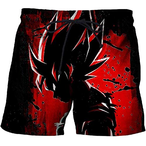Korte broeken Dragon Ball 3D-Print Zomerstrandbroek Voor Heren Sneldrogende Grappige Zwembroek Zwarte Short