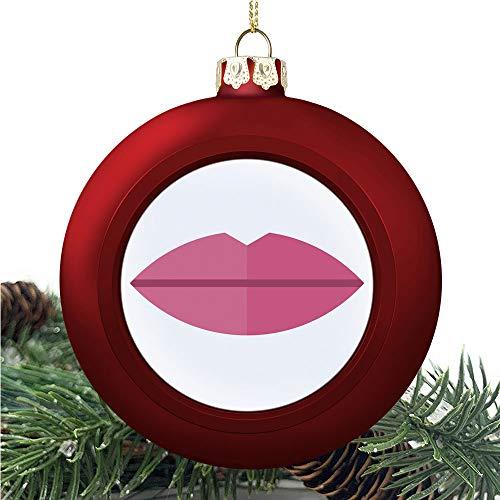 SUPNON Kissprint of Red | Christmas Ball Ornaments 2020 Christmas Pendant Personalized Creative Christmas Decorative Hanging Ornaments Christmas Tree Ornament №YF0584