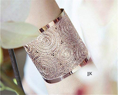 Rose Gold Cuff, Modern Jewelry, Rose Gold Bracelet, Hammered Rose Gold Cuff, Engraved Gold Jewelry Packaged and Ready for Gift Giving, Handmade in Israel