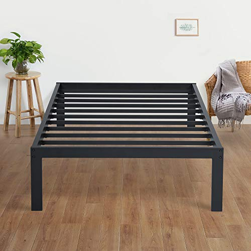 Olee Sleep New Dura Metal Steel Slate Bed Frame, Twin, Black