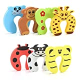 Chutoral 7PCS Finger Pinch Guard Baby Finger Protector Soft Animal Door Stop Protect Child & Baby & Pets from Finger Injuries