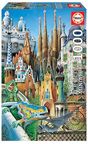 Educa - Collage Gaudí Obras de Arte Puzle, 1 000 Piezas, Multicolor (11874)