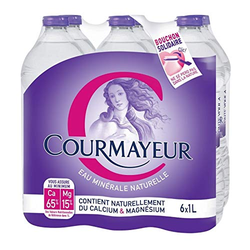 COURMAYEUR - Eau Minérale Pack De 6X1L - Lunité - Offre Special