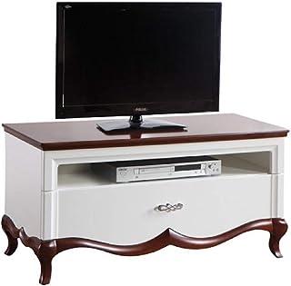 Casa Padrino Aparador Art Deco Cajón Blanco/Marrón Oscuro 114 x 465 x H. 557 cm - Mueble de Televisión - Muebles de Sala