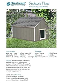 Large Dog House Project Plans Gable Roof Style Doghouse, Pet Size up to 150 lbs Design # 90304G