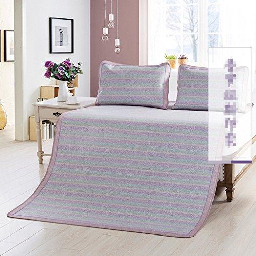 Sièges de rotin 1,8 mètres tapis d'été 1,8 M tapis de lit 1,5 trois ensembles de l'étudiant unique dortoir pliant l'assurance de la qualité de voyage essentiel Xuan - worth having ( Couleur : C , taille : 150*195cm )