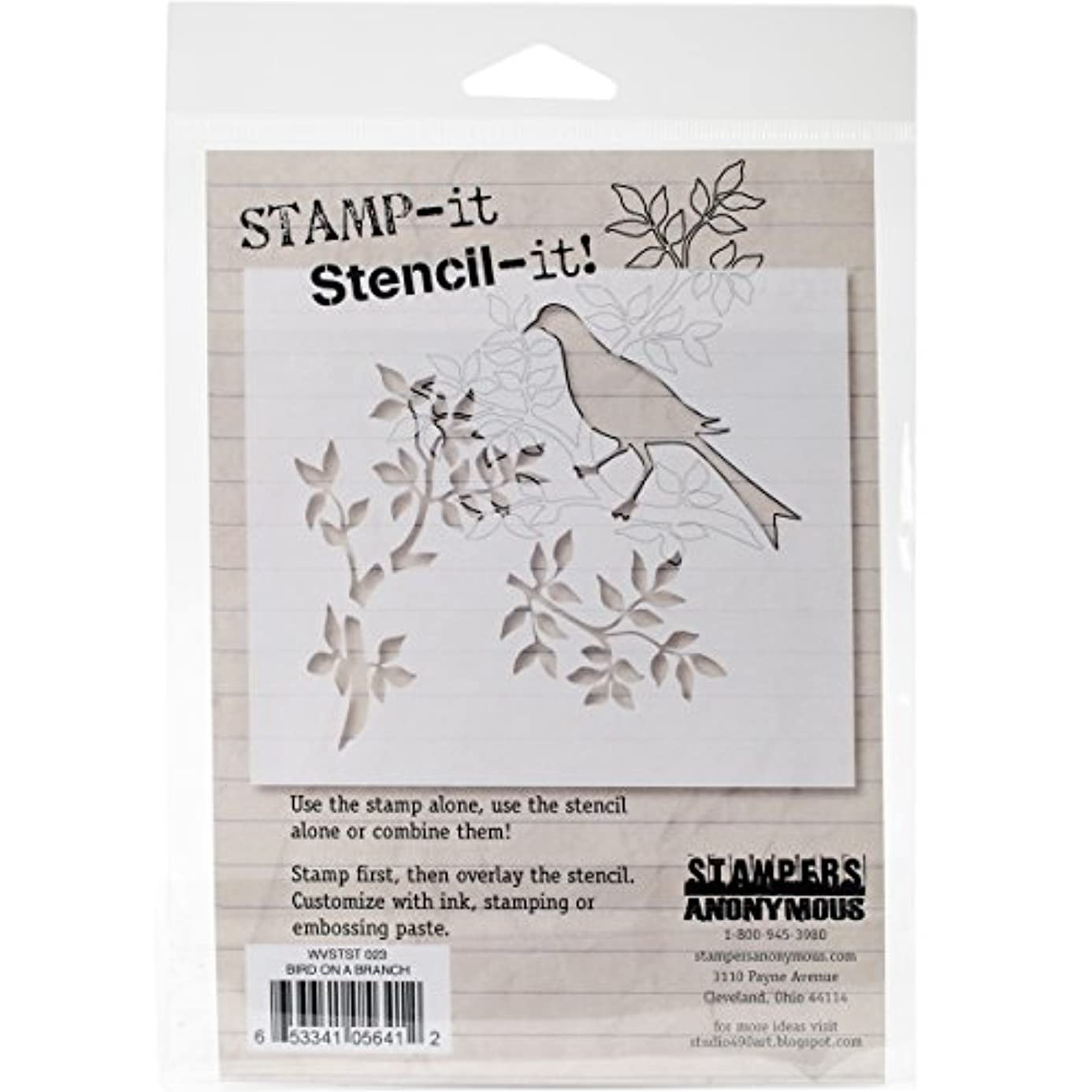 Stampers Anonymous Studio 490 Stamp It Stencil It 7