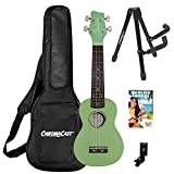 Sawtooth Learn To Play Soprano Ukulele Starter Kit, Surf Green