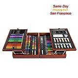 kiddycolor 197piezas Deluxe madera mixed media arte para niños en caja de madera