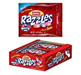 Razzles Assorted Berry Mix Flavors Candy Gum, 1.6 Ounce Resealable Bag - 24 Count Pack