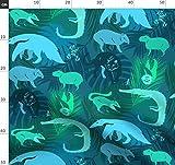 Bucketfeet Regenwaldtiere, Tropisch, Palmenblätter,