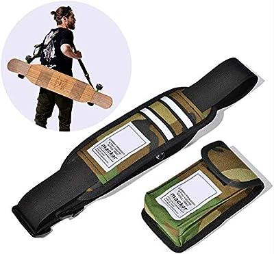 LEDSOPTIC Universal Skateboard Bag Shoulder Carrier Skateboard Shoulder Strap with Portable Multi-Function Bag Fit All Boards, Skateboard Carry Strap
