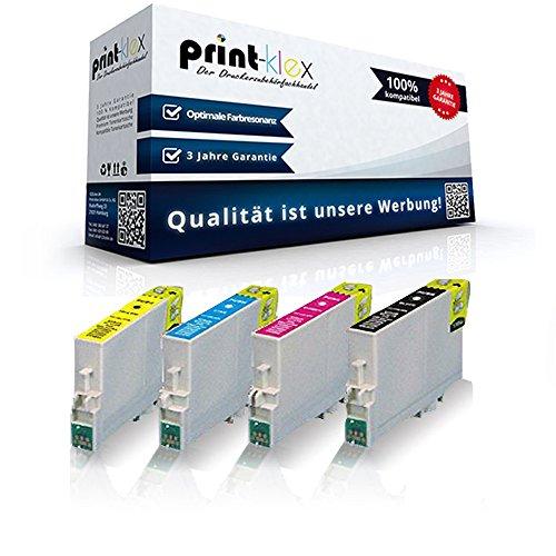 4x Kompatible Reinigungspatronen für Epson Stylus DX 4800 Series Stylus DX 4850 Stylus DX 4850 Plus T0611 T0612 T0613 T0614 Black Cyan Magenta Yellow - Office Quantum Serie