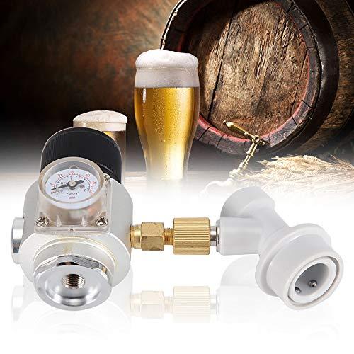 Duokon Regulador de Gas Mini CO2 Homebrew Mini reguladores de Gas con Barril Corny Bloqueo de Bola de Gas Desconecte la fabricación de Vino Herramientas de Kegging