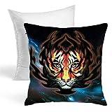 Tigre - Almohadas decorativas para otoño, diseño artístico, elegante, de terciopelo grueso, para sofá, cama, sofá, coche, etc.
