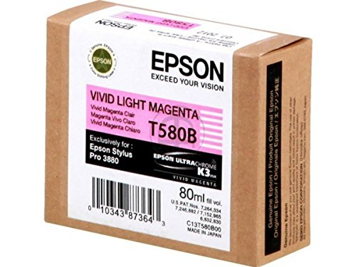 Epson Stylus Pro 3880 Designer Edition (T580B / C 13 T 580B00) - original - Tintenpatrone magenta hell - 80ml