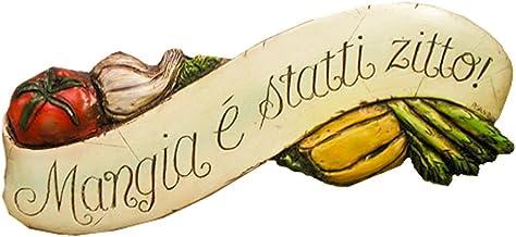 product image for Piazza Pisano Italian Wall Plaque Mangia E Statti Zitto