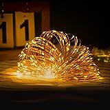 Guirnalda Luces de Hada 10M 100 LED Luces Navidad USB, 8 Modos Cadena de...