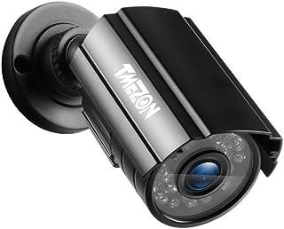 TMEZON 720P AHD Camera 4 in 1 TVI/CVI/AHD/CVBS Security Cameras Day Night Waterproof Camera 65ft IR Distance, Metal Housin...