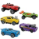 5 Mini Mixed Race Cars Sliding Die-CastingVehicle Toy Set (Suitable for Toddlers and Children's Parties), Friction-Powered Cars