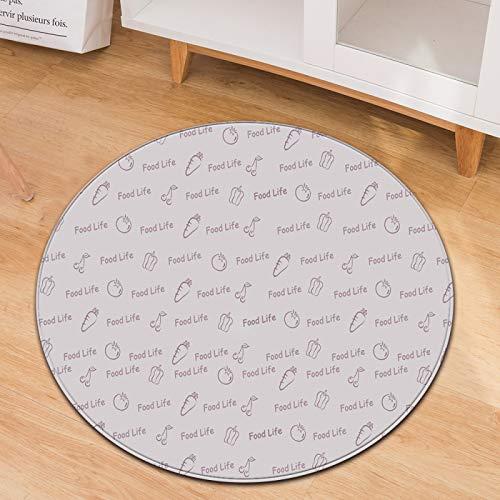 Oukeep Alfombra Redonda Simple Tapetes para Sillas Mecedoras Domésticas Mantas para Sillas De Oficina Lavables