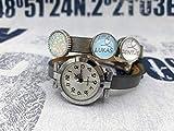 Wickelarmband Wickelarmbanduhr Wickeluhr Armbanduhr Lederarmband Uhr silber Wunschname Name personalisiert Schiebeperle Cabochon Geschenkidee