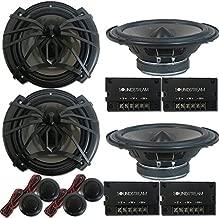 4 x Soundstream AC.6 Arachnid Series 6.5 inch 2-Way Car Audio Component Speaker System 6-1/2