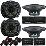 4 x Soundstream AC.6 Arachnid Series 6.5 inch 2-Way Car Audio Component Speaker System 6-1/2' 300W
