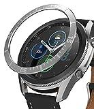 Ringke Bezel Styling Diseñado para Funda Samsung Galaxy Watch 3 (45mm), Carcasa Diseño Elegante Único Acero Inoxidable para Galaxy Watch 3 45mm (2020) - Silver [45-02]