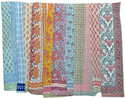 Sale ON Amazon Indian Hand Block Print Cotton Beach Sarong Scarf Fashion Beach Pareo Bride Bridesmaids product image